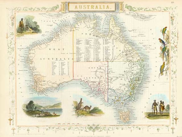 95-Australia & Oceania, Australia, Oceania and Other Pacific Islands Map By John Tallis