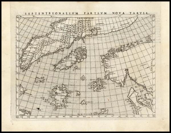 83-World, Polar Maps, Atlantic Ocean, Europe, Scandinavia and Balearic Islands Map By Girolamo Rus