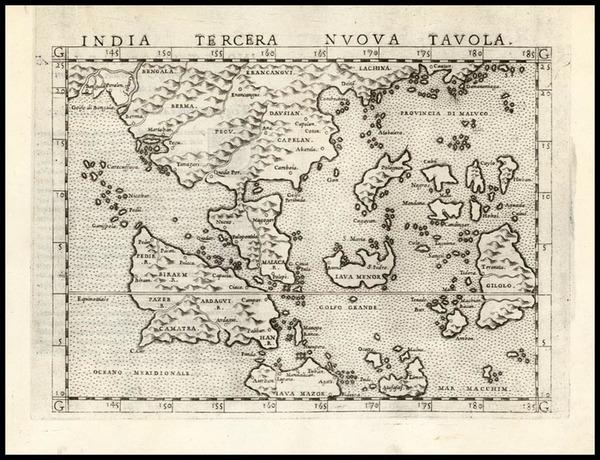 0-Asia, China, India and Southeast Asia Map By Girolamo Ruscelli