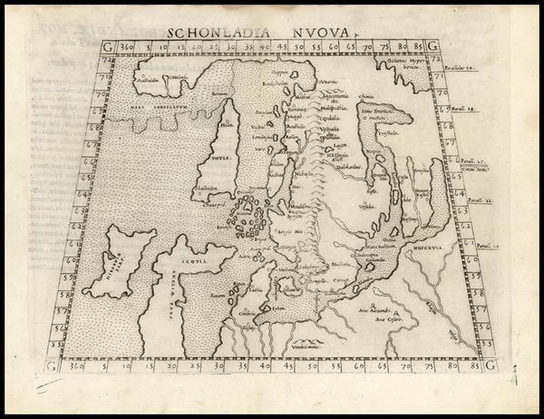 7-Europe, Europe and Scandinavia Map By Girolamo Ruscelli