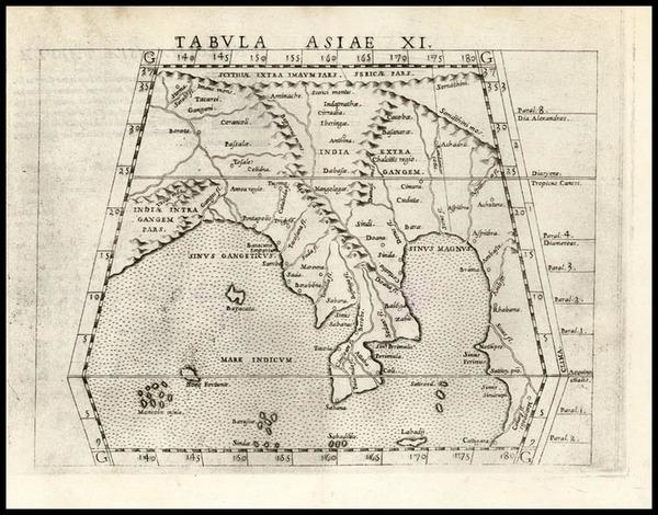 62-Asia, India and Southeast Asia Map By Girolamo Ruscelli