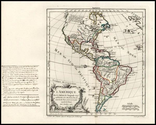 59-South America and America Map By Didier Robert de Vaugondy