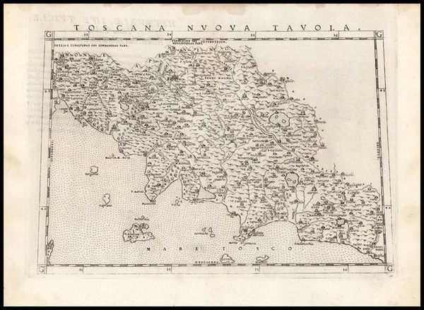 23-Europe and Italy Map By Girolamo Ruscelli