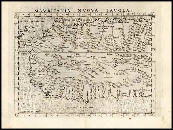13-Africa, North Africa and West Africa Map By Girolamo Ruscelli