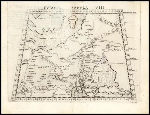 14-Europe, Russia, Baltic Countries and Scandinavia Map By Girolamo Ruscelli