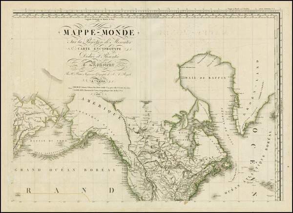 58-Alaska, North America, Canada, South America and America Map By Adrien-Hubert Brué