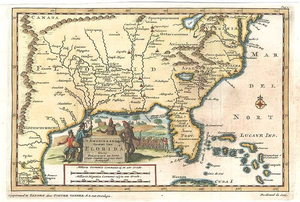 91-United States, South, Southeast and Southwest Map By Pieter van der Aa
