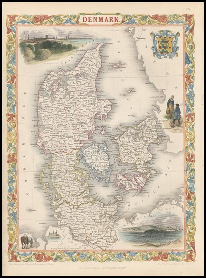 61-Europe and Scandinavia Map By John Tallis