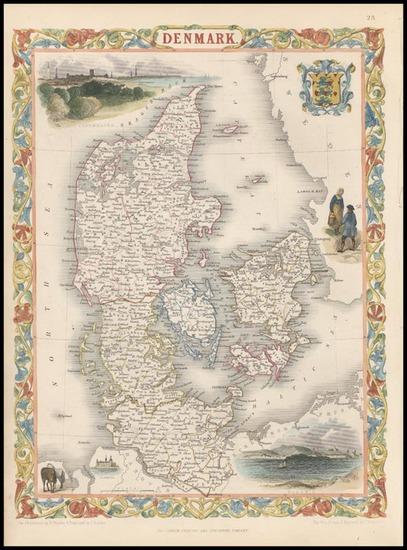 72-Europe and Scandinavia Map By John Tallis