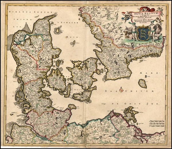 37-Europe and Scandinavia Map By Frederick De Wit