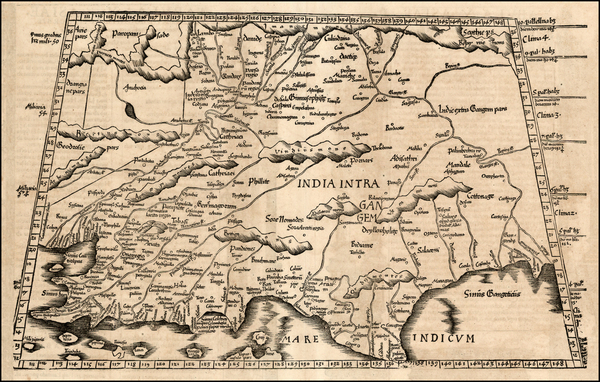 41-India and Central Asia & Caucasus Map By Lorenz Fries