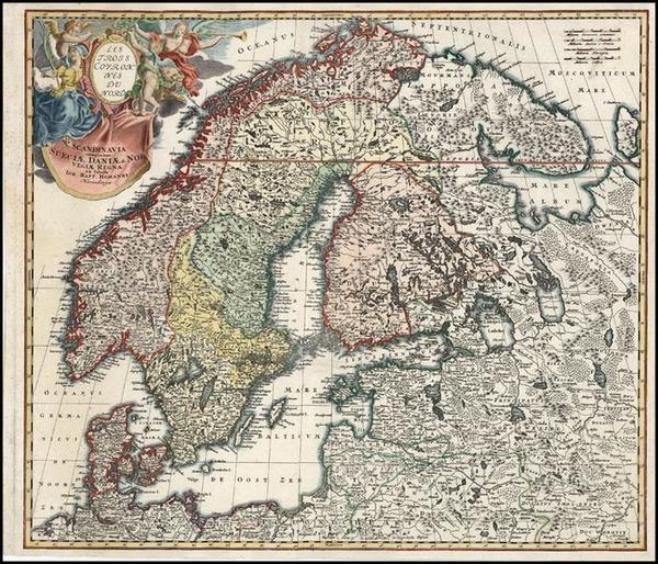 85-Europe, Russia, Baltic Countries and Scandinavia Map By Johann Baptist Homann