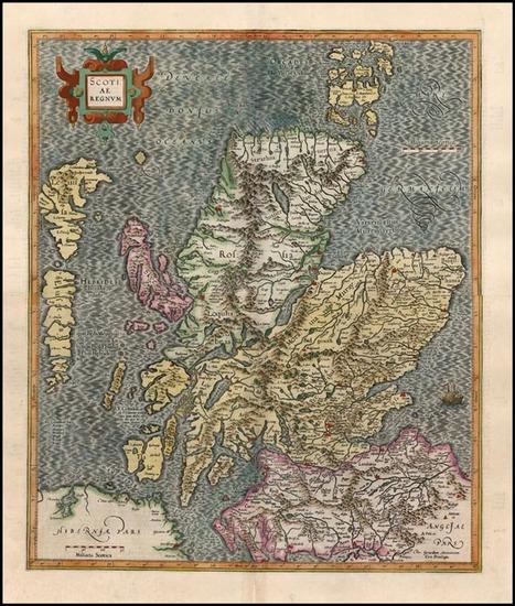 98-Scotland Map By Gerhard Mercator