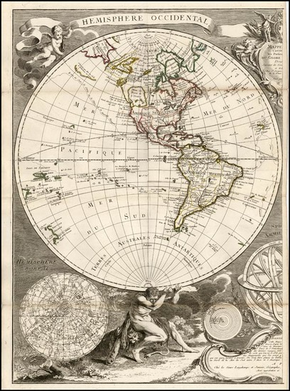 20-World, World, Alaska, South America and America Map By Jean Janvier / S.G. Longchamps