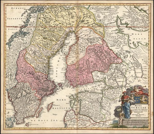 2-Europe, Baltic Countries and Scandinavia Map By Johann Baptist Homann