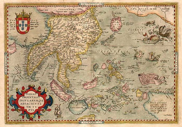 79-Asia, Japan, Southeast Asia, Philippines, Australia & Oceania and Oceania Map By Abraham Or