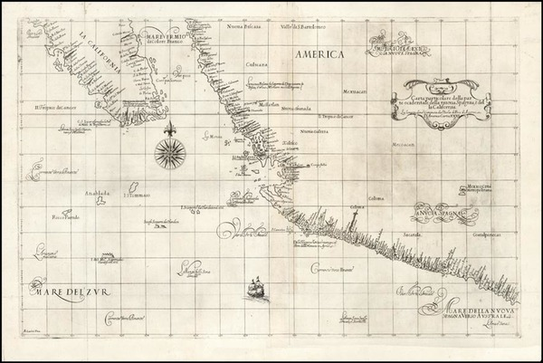 37-Mexico, Baja California and California Map By Robert Dudley