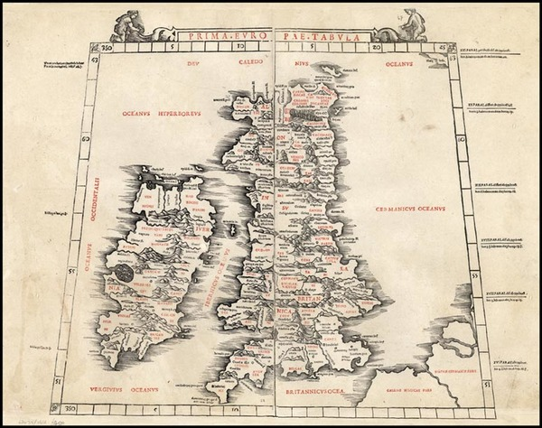 73-Europe and British Isles Map By Bernardus Sylvanus