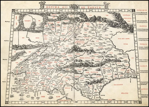 88-Asia, India and Central Asia & Caucasus Map By Bernardus Sylvanus