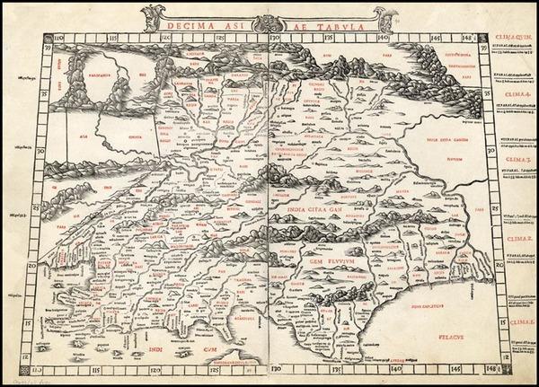 23-Asia, India and Central Asia & Caucasus Map By Bernardus Sylvanus