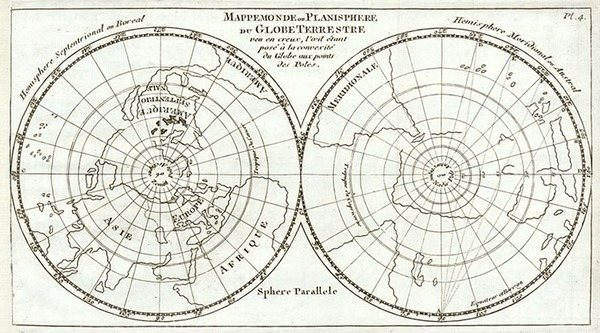 25-World, World, Northern Hemisphere, Southern Hemisphere and Polar Maps Map By Sanson fils