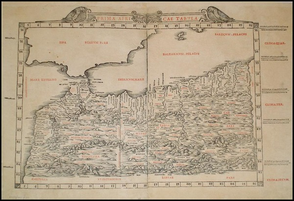 11-Africa and North Africa Map By Bernardus Sylvanus