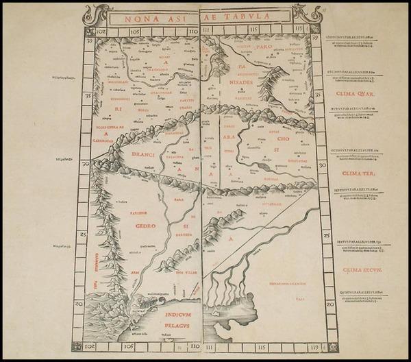 83-India and Central Asia & Caucasus Map By Bernardus Sylvanus