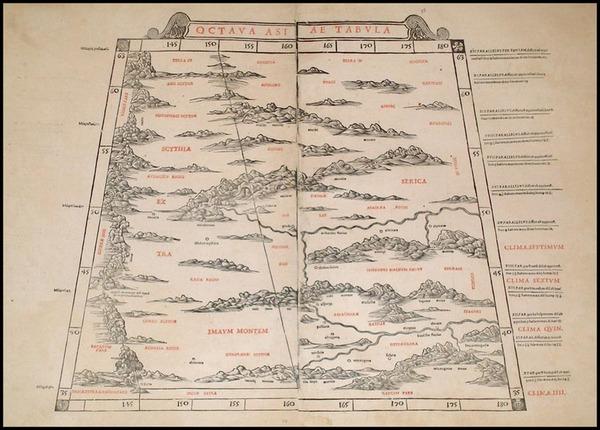 84-India and Central Asia & Caucasus Map By Bernardus Sylvanus