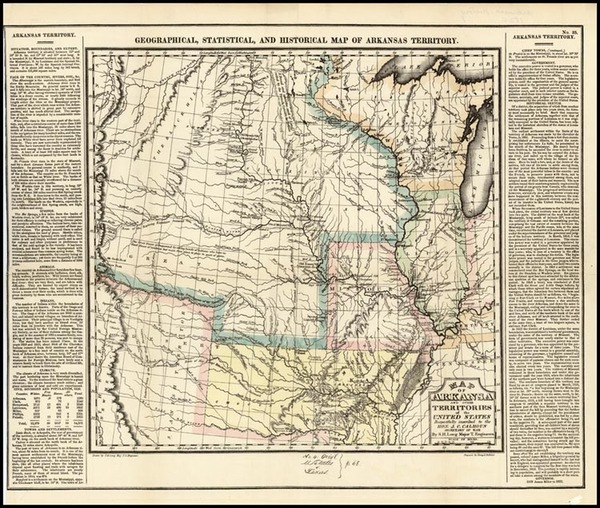 30-Texas, Midwest, Plains and Rocky Mountains Map By Henry Charles Carey  &  Isaac Lea