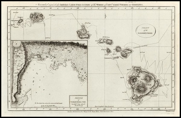 67-Hawaii, Australia & Oceania and Hawaii Map By James Cook