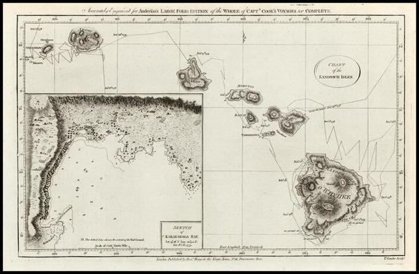 60-Hawaii, Australia & Oceania and Hawaii Map By James Cook