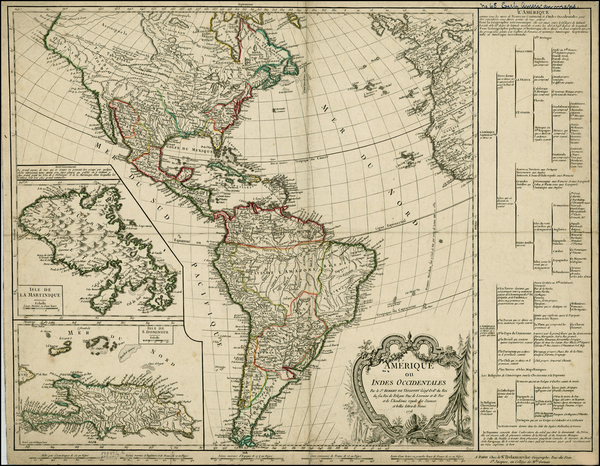 87-South America and America Map By Didier Robert de Vaugondy / Charles Francois Delamarche