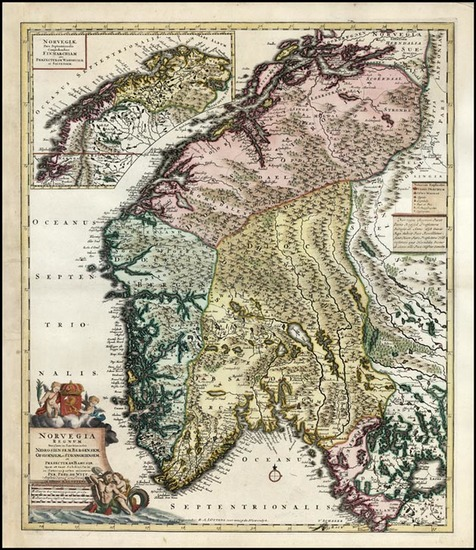 76-Europe and Scandinavia Map By Reiner & Joshua Ottens / Frederick De Wit