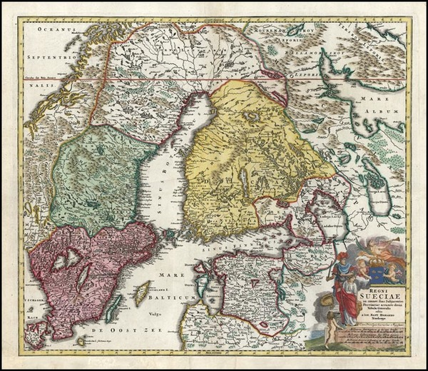 37-Europe, Baltic Countries and Scandinavia Map By Johann Baptist Homann
