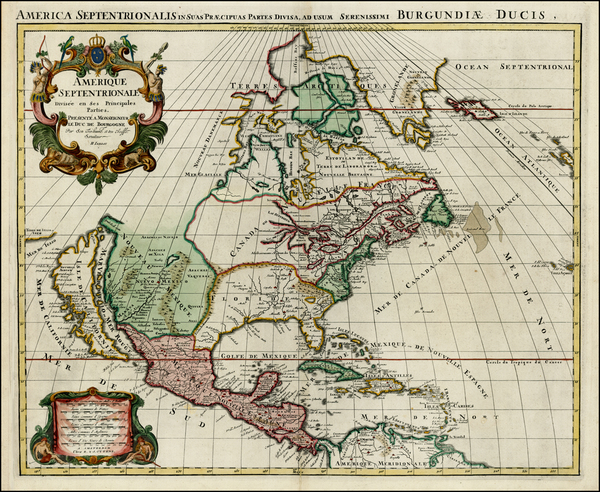 75-North America and California Map By Reiner & Joshua Ottens / Alexis-Hubert Jaillot