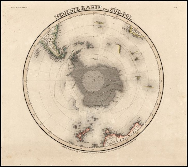 94-World, Southern Hemisphere and Polar Maps Map By Joseph Meyer
