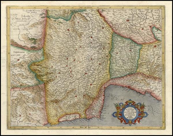 21-Italy Map By Gerhard Mercator