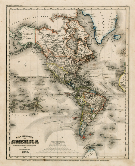 24-South America and America Map By Joseph Meyer