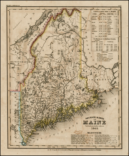 23-New England and Maine Map By Joseph Meyer
