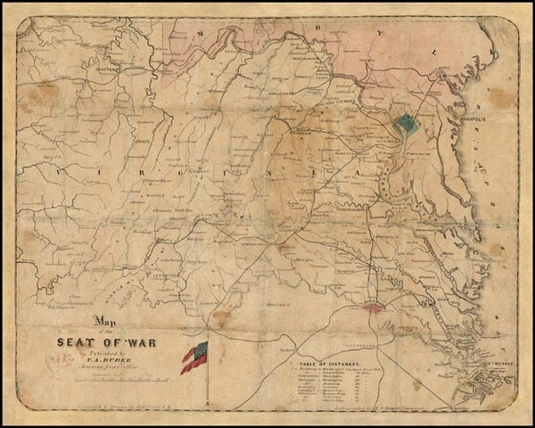 85-Mid-Atlantic and Southeast Map By T.A. Burke / M.B. Grant