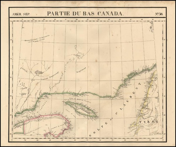 Canada Map By Philippe Marie Vandermaelen