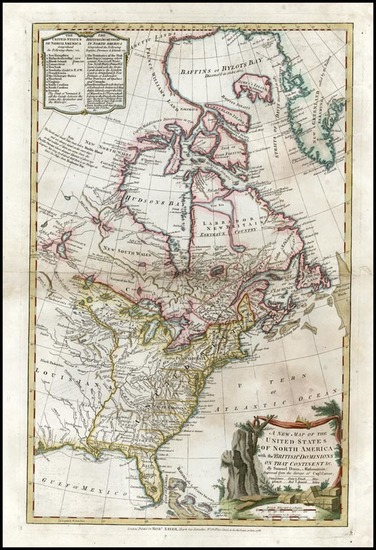 39-United States, South America and America Map By Robert Sayer