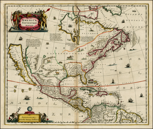 70-North America and California Map By Jan Jansson
