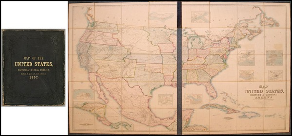 70-United States, South America and America Map By Henry Darwin Rogers  &  Alexander Keith Joh