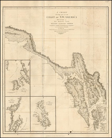 82-Alaska Map By George Vancouver