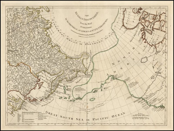 77-World, Alaska, Canada and Pacific Map By Robert Sayer