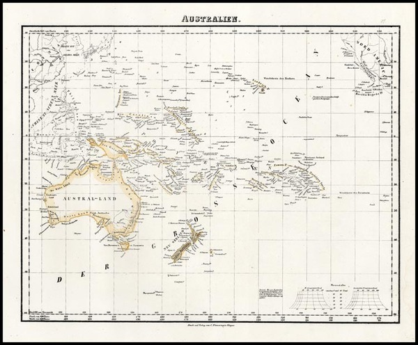 79-Australia & Oceania, Oceania, Hawaii and Other Pacific Islands Map By Carl Flemming