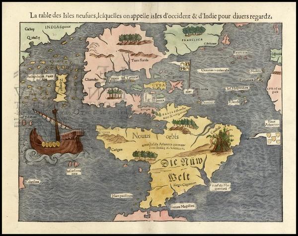 37-World, Western Hemisphere, North America, South America, Pacific and America Map By Sebastian M