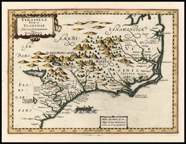 93-Southeast Map By Johannes Cloppenburg