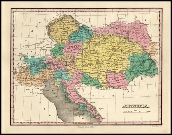 68-Europe, Austria, Poland, Hungary and Balkans Map By Anthony Finley